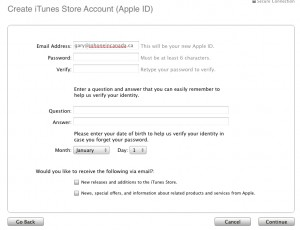 How to Setup a US iTunes Account in Canada with Vanilla