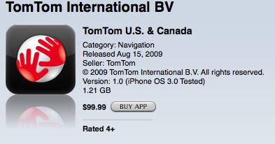 TomTom iPhone App Released in App Store | iPhone in Canada Blog