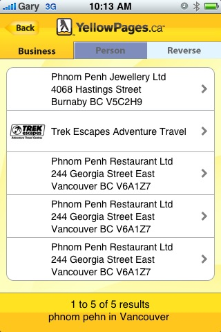 Updated YellowPages ca iPhone App Is Worthy | iPhone in