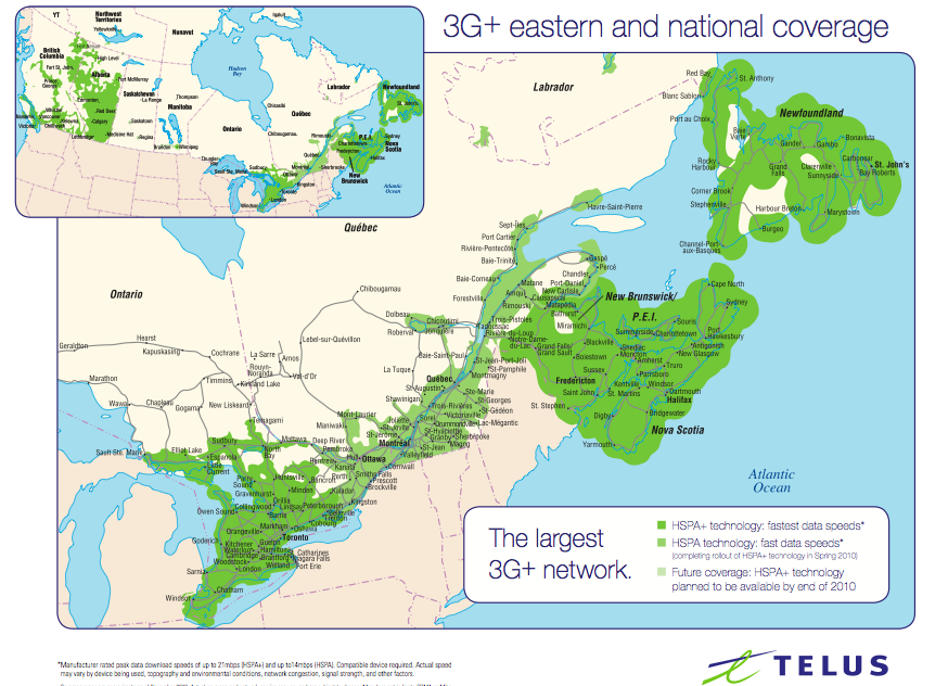 Network Coverage Maps; Bell vs Telus vs Fido vs Rogers | iPhone in ...