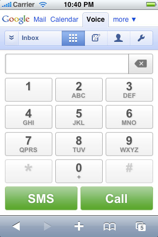 Google Voice iPhone Web App Released: Canadians Salivate