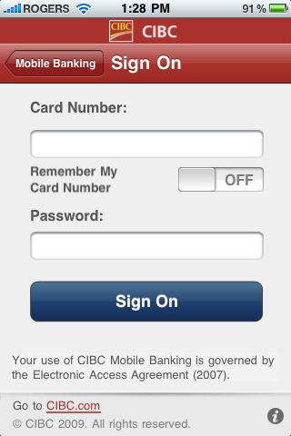 find my iphone login online cibc launches mobile banking app for iphone iphone in 2234