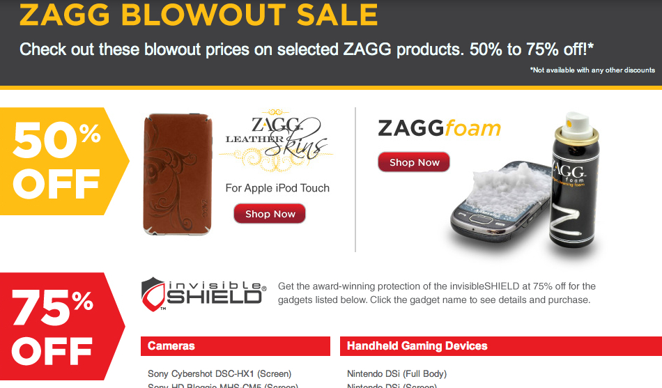ZAGG Up to 75% OFF Blowout Sale: Until Supplies Last