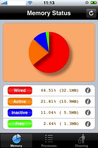 App Screenshot - Memory Status 01