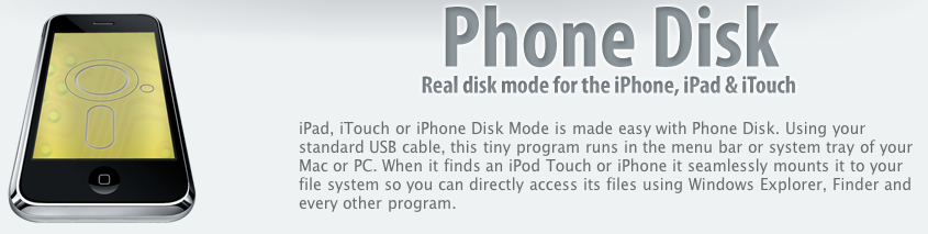 Phone Disk: Real Disk Mode App for iPhone is Free   iPhone
