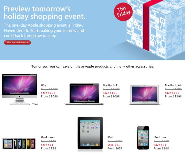 Ipad deals canada black friday