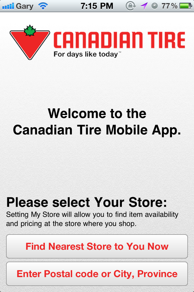 Canadian Tire Retail Iphone App Available Iphone In Canada Blog