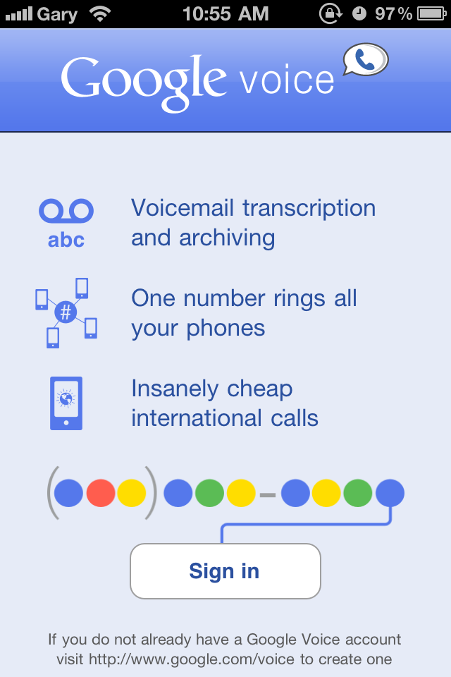 Official Google Voice iPhone App Released | iPhone in Canada Blog