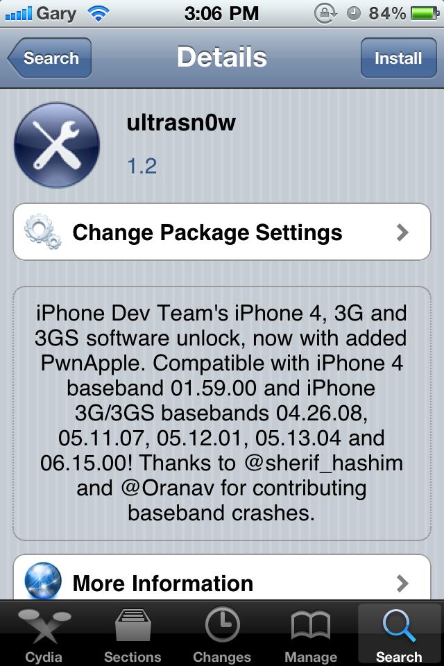 ultrasn0w deb for ios 4.2.1