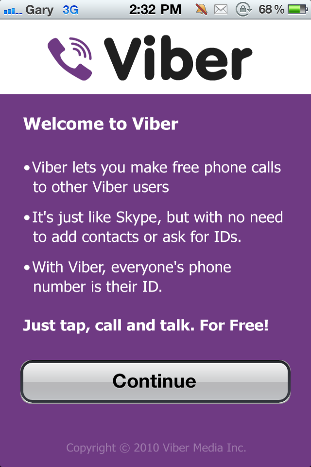 Viber: Make Free VoIP Calls on iPhone Over 3G/WiFi | iPhone
