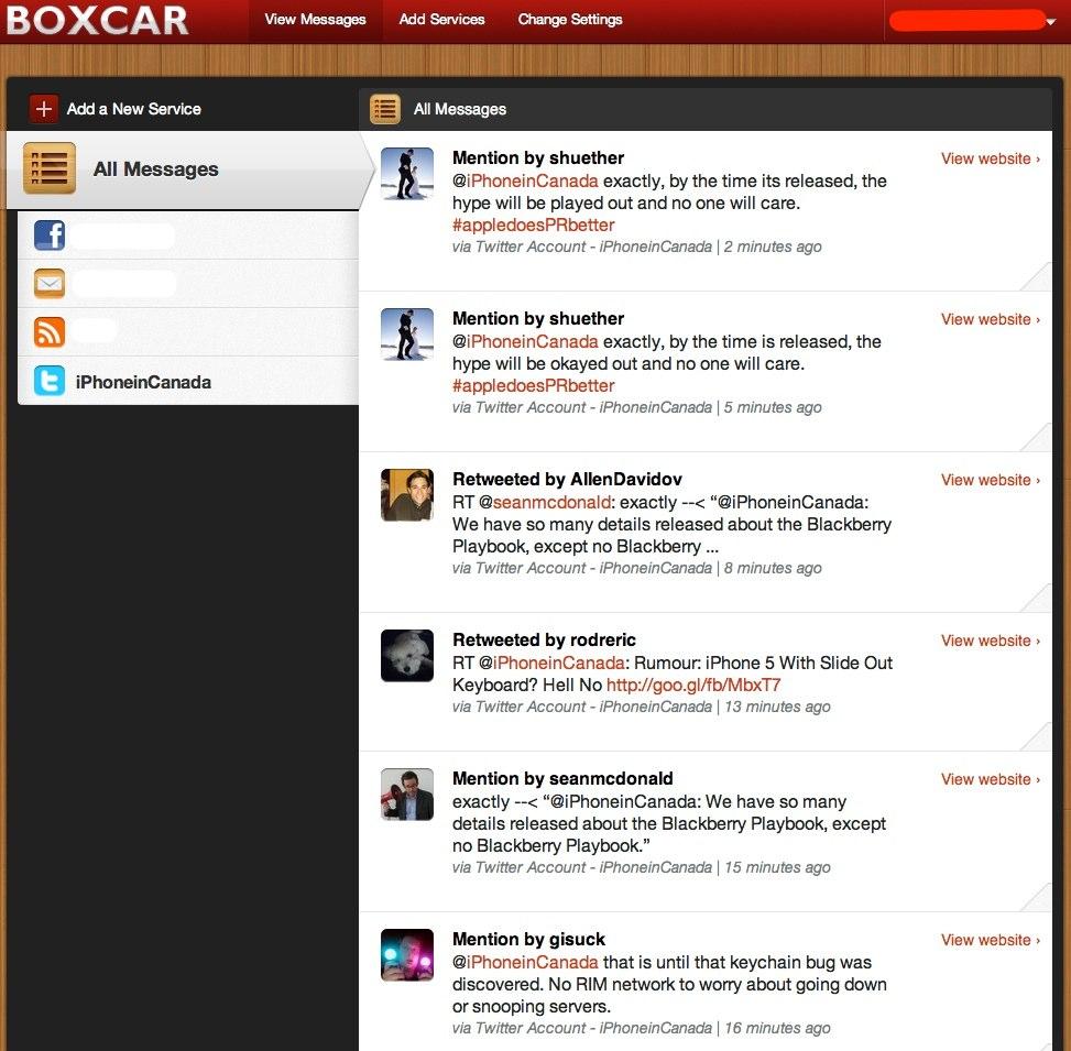 boxcar web