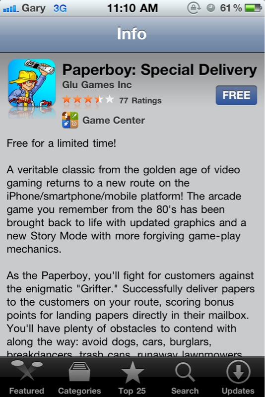 Paperboy: Special Delivery is Free in the App Store | iPhone