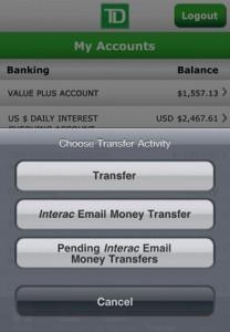 TD banking