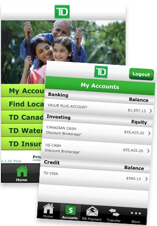 TD Banking App Updated with Interac Money Transfers | iPhone