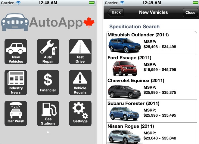 Car Wash Near Me Prices >> Automotive App: Canadian Car Information Right on your ...