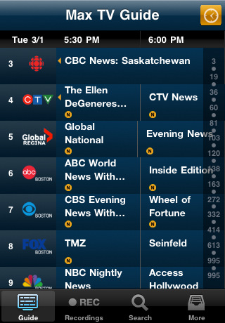 sasktel max remote dtvr app manages your pvr from iphone iphone in rh iphoneincanada ca SaskTel Careers sasktel max tv listings