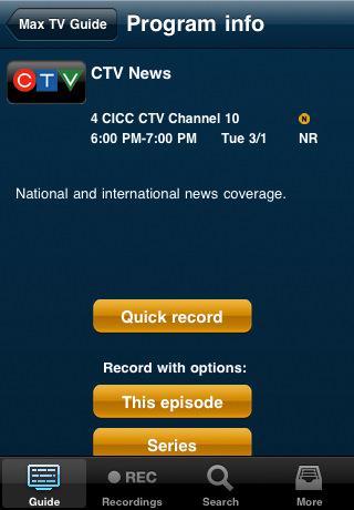 sasktel max remote dtvr app manages your pvr from iphone iphone in rh iphoneincanada ca sasktel maxtv guide saskatoon SaskTel Centre