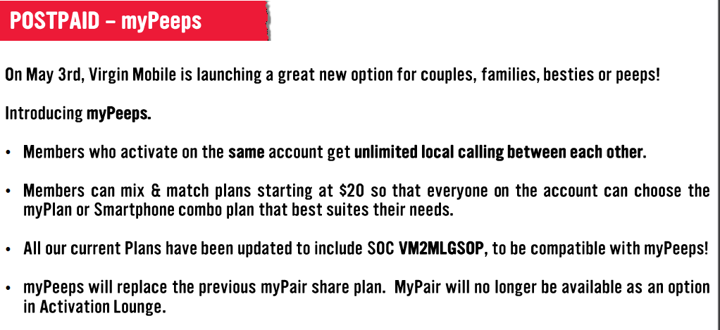 """To get the feature, existing Virgin Mobile customers will have to call  Customer Care to add """"myPeeps"""" to their account. Newly activated Virgin  Mobile ..."""