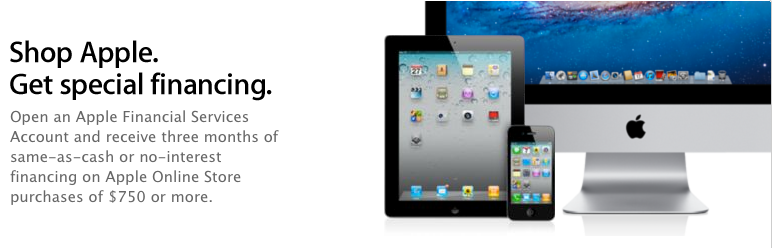 Financing Now Available for Purchases at the Apple Online