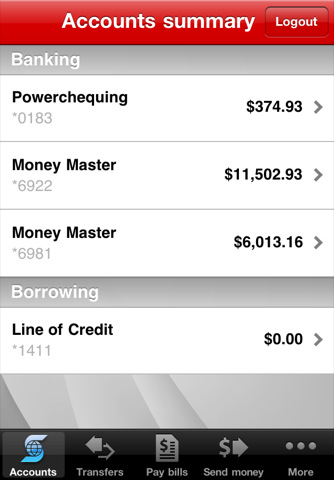 Scotiabank App For iPhone Updated With New Interface, Account