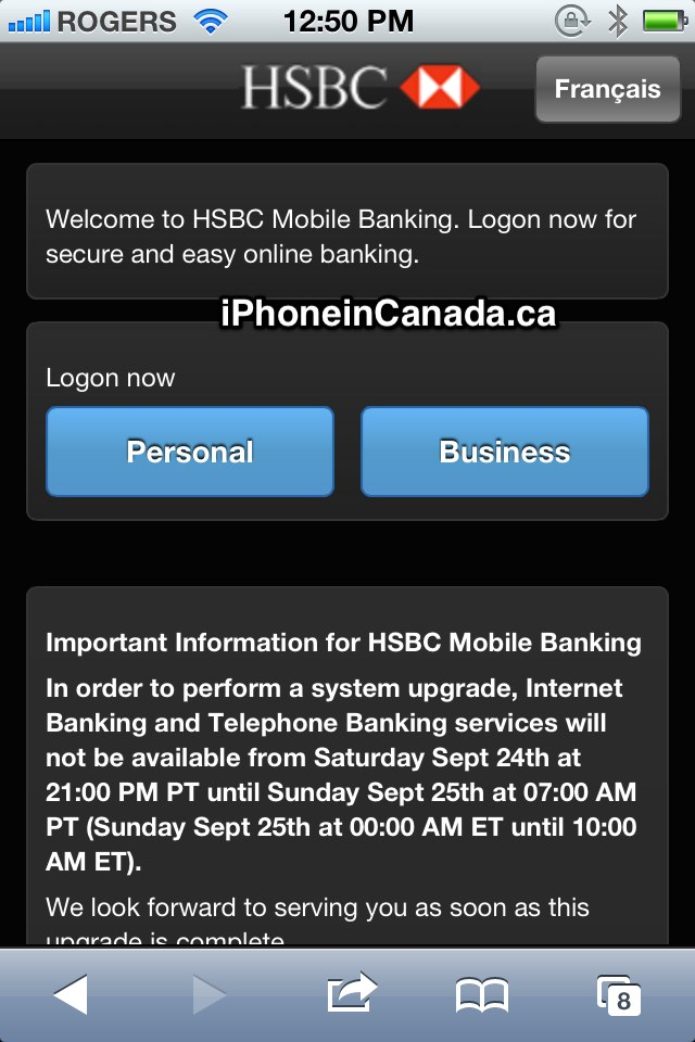 HSBC Canada Launches Mobile Banking Site for iPhone and iPod touch
