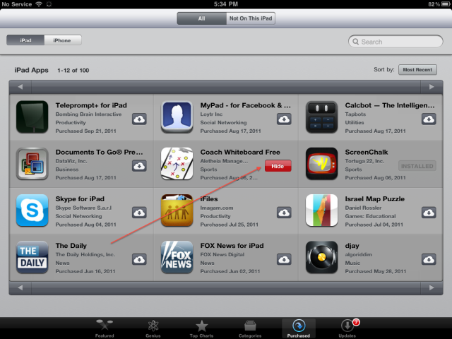 How To Hide / Unhide Your App Store Purchases In iOS [Guide