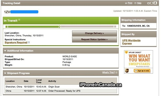 Ups tracking number not updating