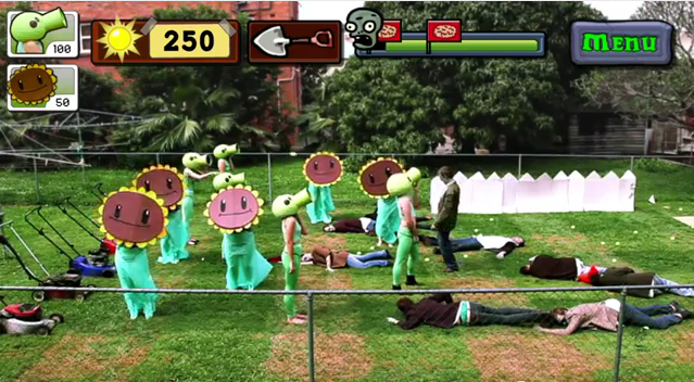 Angry Birds, Fruit Ninja, & Plants Vs Zombies Real Life
