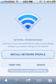 Jeff Broderick Releases QuickWiFi to Easily Share Network
