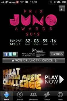 Juno Awards Official App | iPhone in Canada Blog