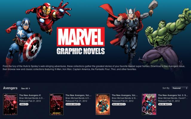 Download Marvel Comics iBooks,