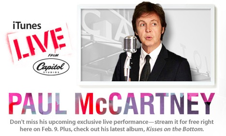 Watch Paul McCartney Concert Live Streaming On iTunes & Apple TV