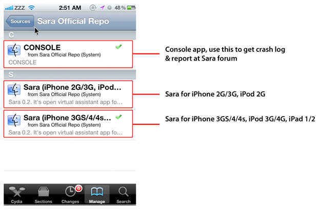 How To Install Sara 0 3 Cydia Siri Alternate [iPhone 2G/3G/3GS/4