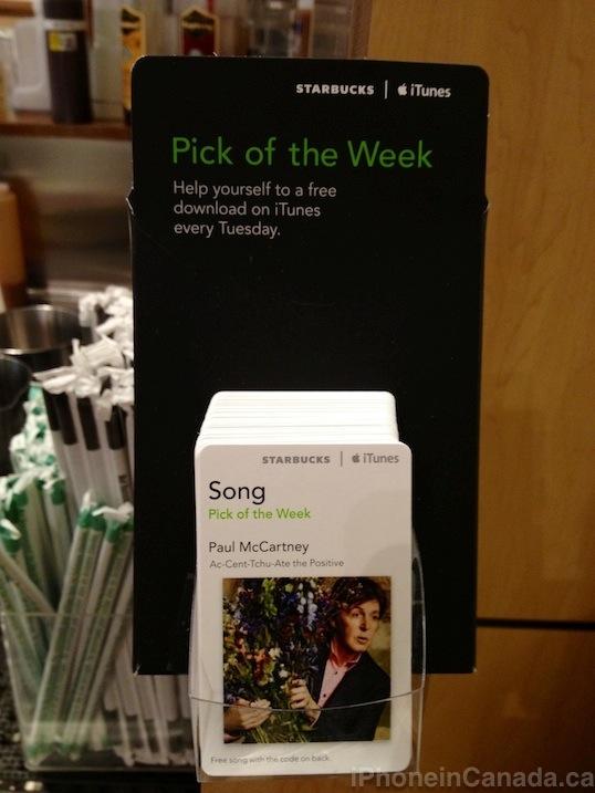 Starbucks 'Pick of the Week': Paul McCartney Single | iPhone