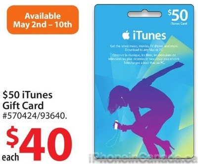 50 Itunes Gift Cards On Sale For 40 At Walmart Canada 20 Off