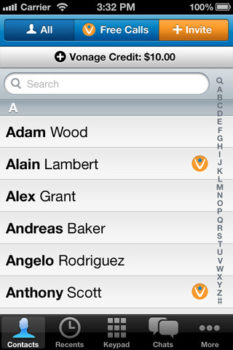 Vonage Mobile iPhone App Extends Promo for Free Calls to