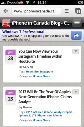 Google Chrome for iOS Now in the App Store | iPhone in Canada Blog