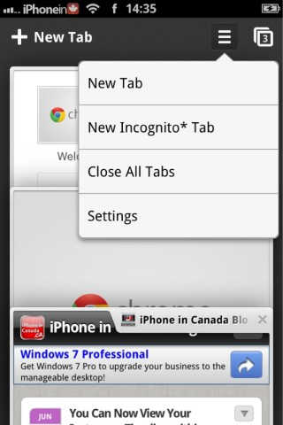 Google Chrome for iOS Now in the App Store | iPhone in