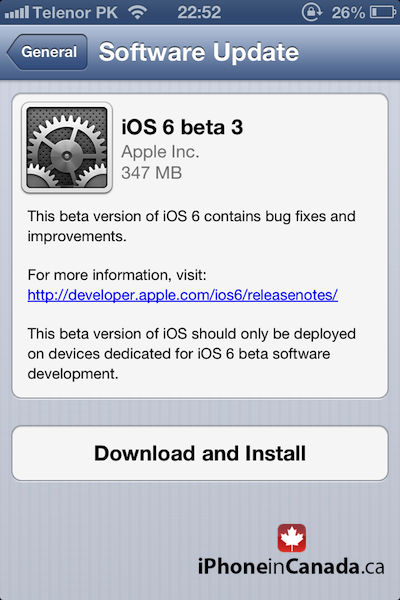 Download iOS 6 Beta 3 For iPhone, iPod touch & iPad