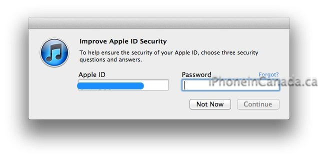 Apple ID Security Increased with 3 Security Questions and Rescue