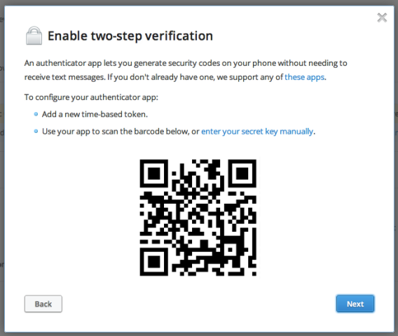 How to Setup Dropbox with 2-Step Verification and Google
