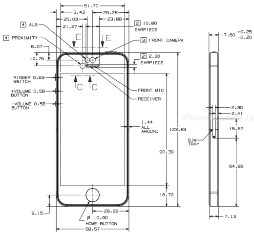 iphone 5 dimensions here are the blueprints for the iphone 5 and every ios 10980