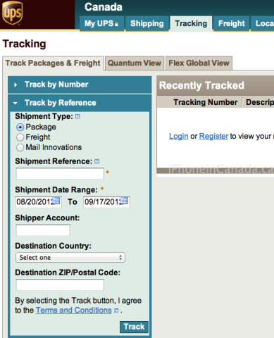 how to get your iphone 5 tracking number via ups | iphone in canada blog