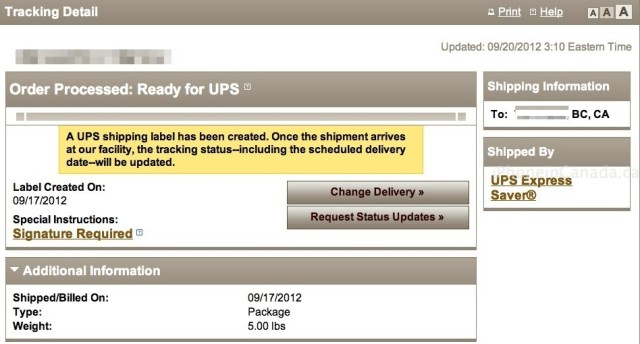 unlocked iphone 5 pre-orders shipped, ups tracking number available