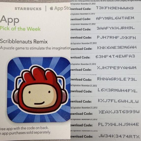 Starbucks App Pick of the Week: Scribblenauts Remix [Promo