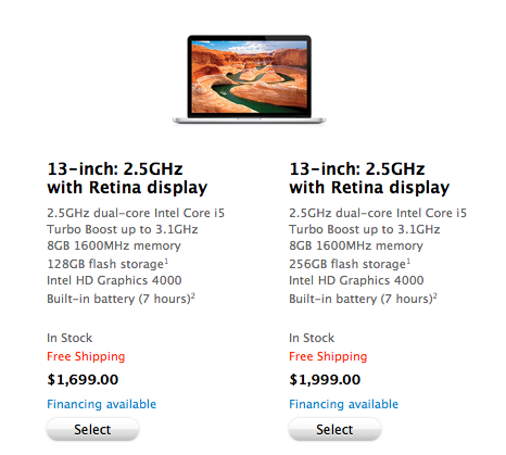13 inch Retina MacBook Pro