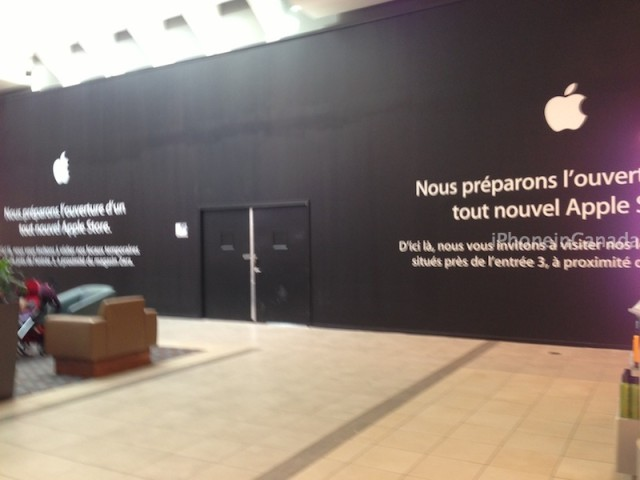 Apple Store Carrefour Laval Undergoing Renovations, New Store Coming