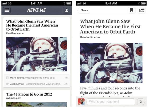 News.me iPhone App