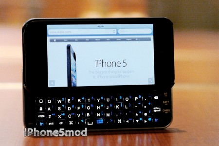 iPhone 5 backlit keyboard