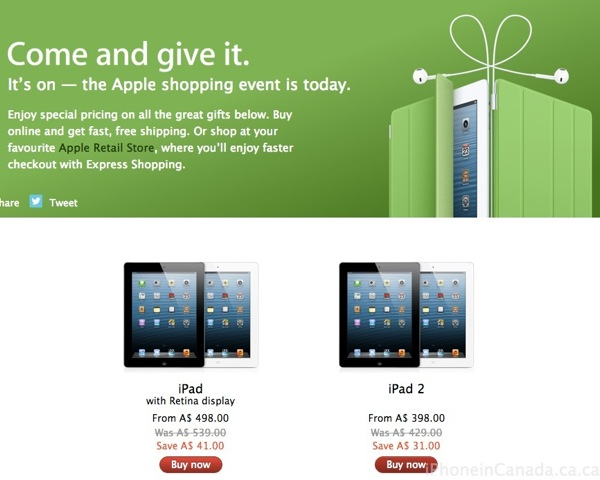 Ipad deals in canada for black friday